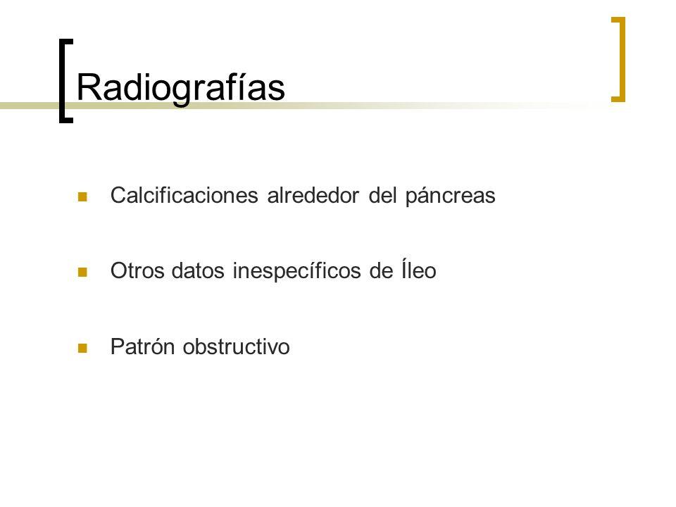 Radiografías Calcificaciones alrededor del páncreas