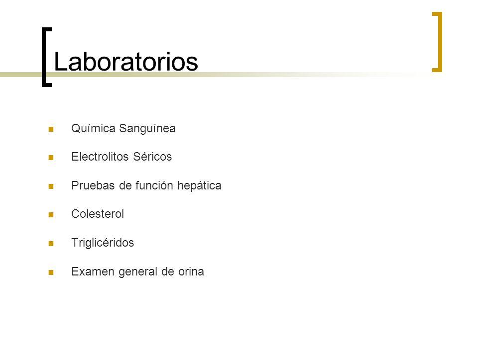 Laboratorios Química Sanguínea Electrolitos Séricos