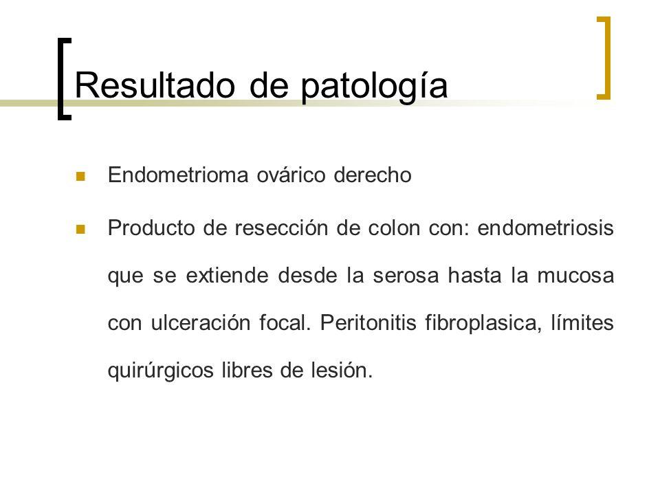 Resultado de patología