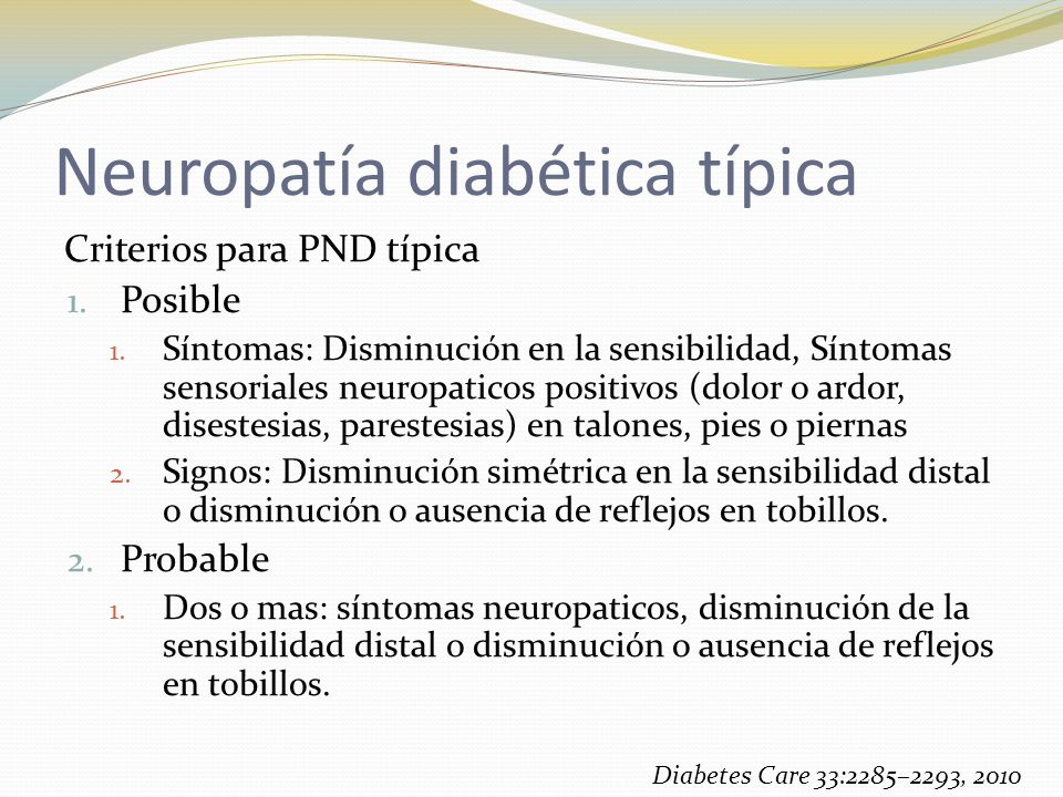 Neuropatía diabética típica