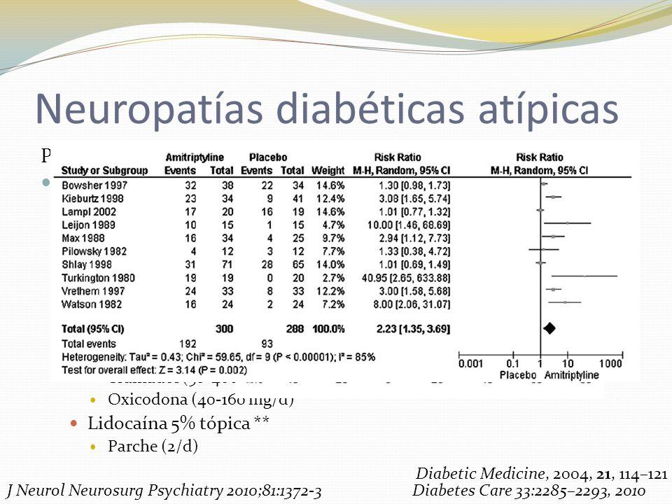 Neuropatías diabéticas atípicas