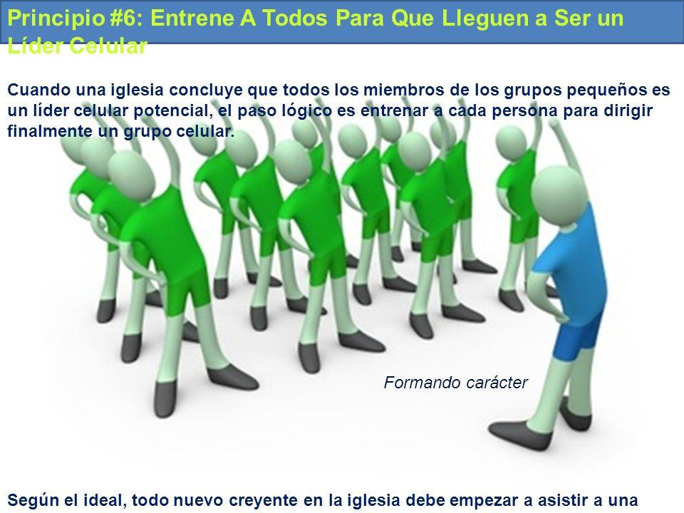 Principio #6: Entrene A Todos Para Que Lleguen a Ser un Líder Celular
