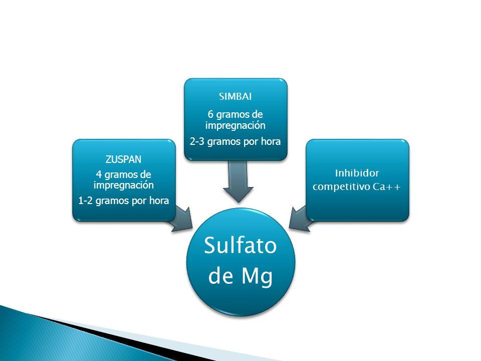 4 gramos de impregnación 1-2 gramos por hora ZUSPAN