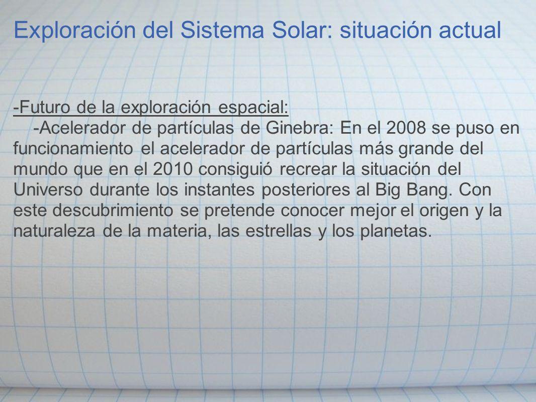 Exploración del Sistema Solar: situación actual