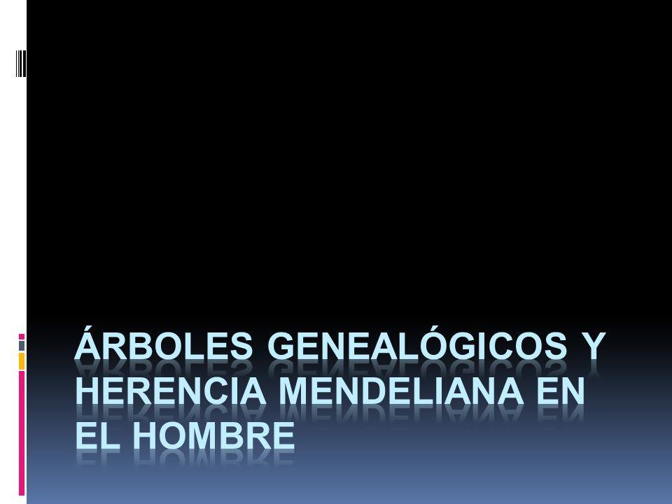 Árboles Genealógicos y Herencia Mendeliana en el Hombre