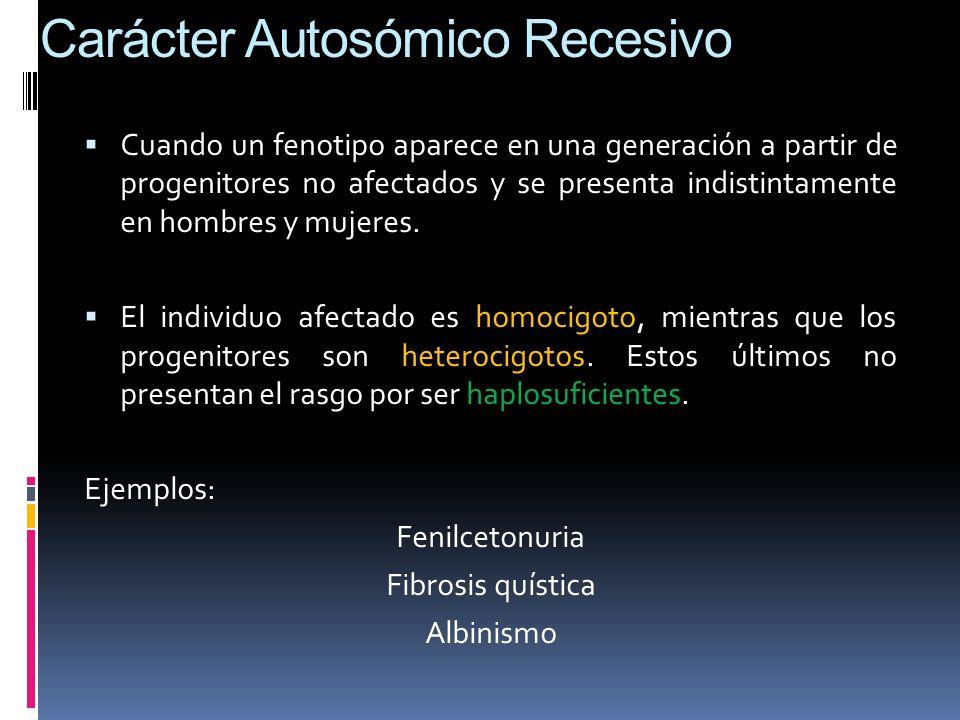 Carácter Autosómico Recesivo