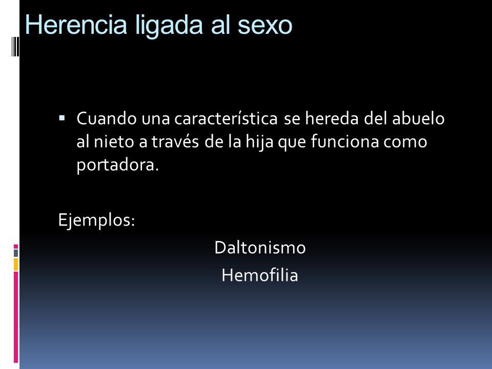 Herencia ligada al sexo