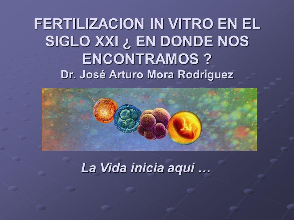 FERTILIZACION IN VITRO EN EL SIGLO XXI ¿ EN DONDE NOS ENCONTRAMOS. Dr