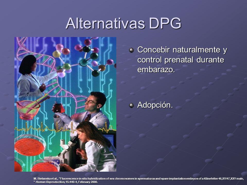 Alternativas DPG Concebir naturalmente y control prenatal durante embarazo. Adopción.