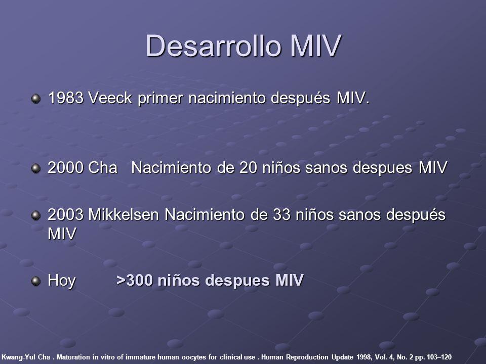Desarrollo MIV 1983 Veeck primer nacimiento después MIV.