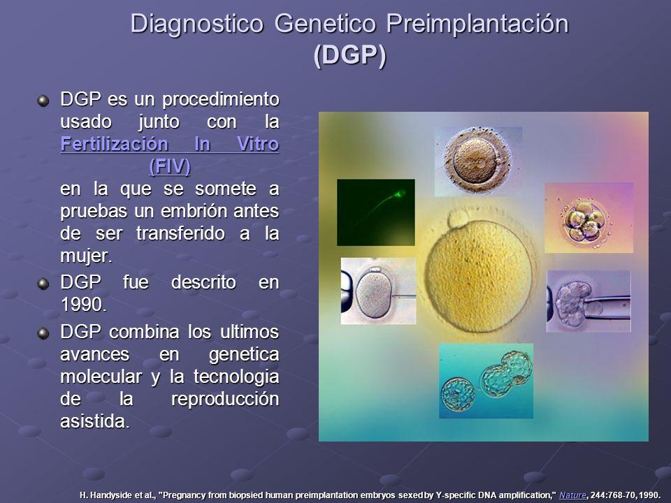 Diagnostico Genetico Preimplantación (DGP)