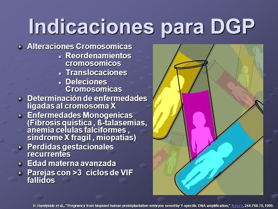 Indicaciones para DGP Alteraciones Cromosomicas