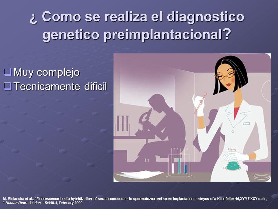 ¿ Como se realiza el diagnostico genetico preimplantacional