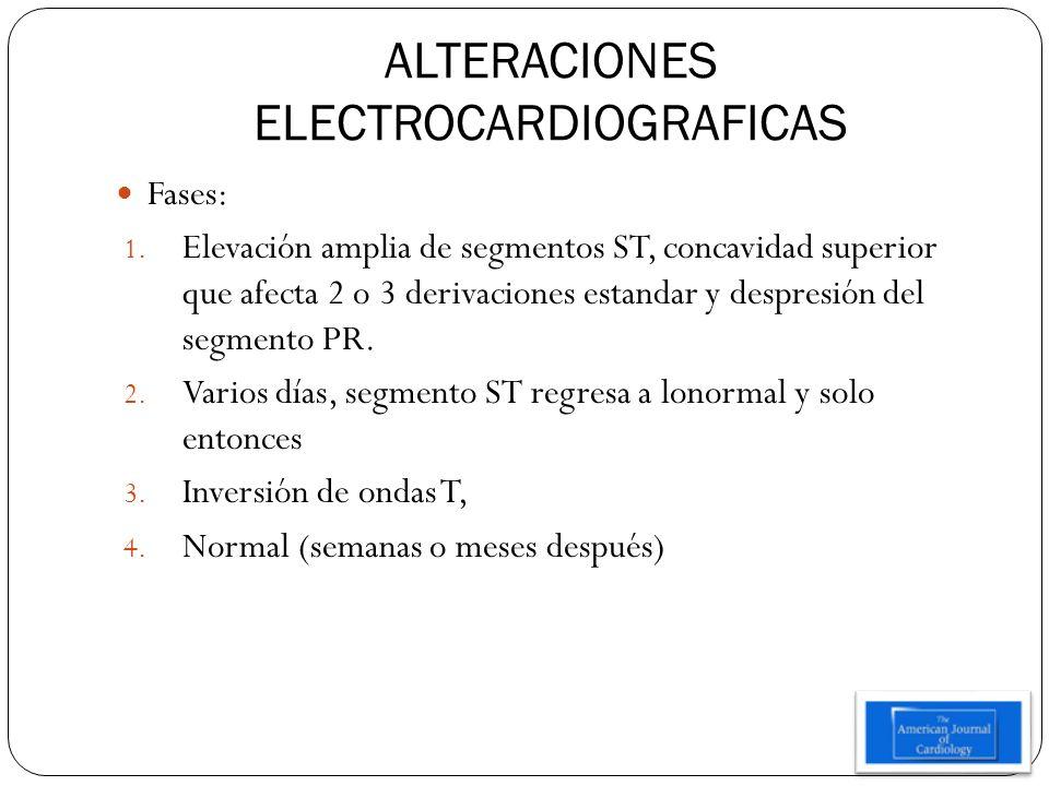 ALTERACIONES ELECTROCARDIOGRAFICAS