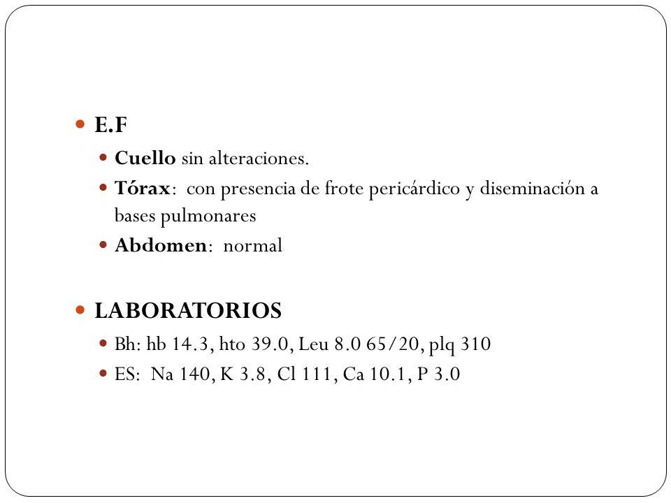E.F LABORATORIOS Cuello sin alteraciones.