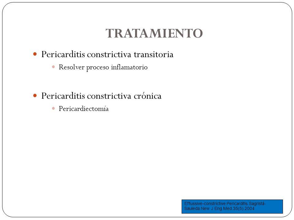 TRATAMIENTO Pericarditis constrictiva transitoria