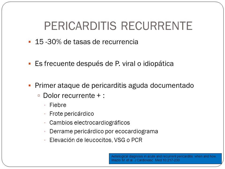 PERICARDITIS RECURRENTE