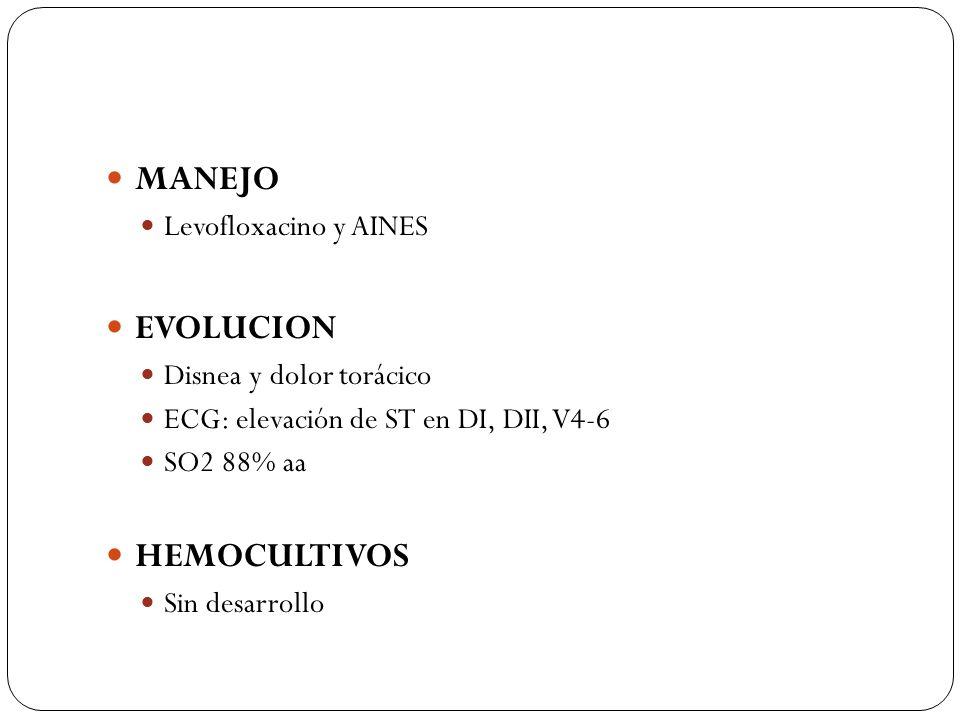 MANEJO EVOLUCION HEMOCULTIVOS Levofloxacino y AINES