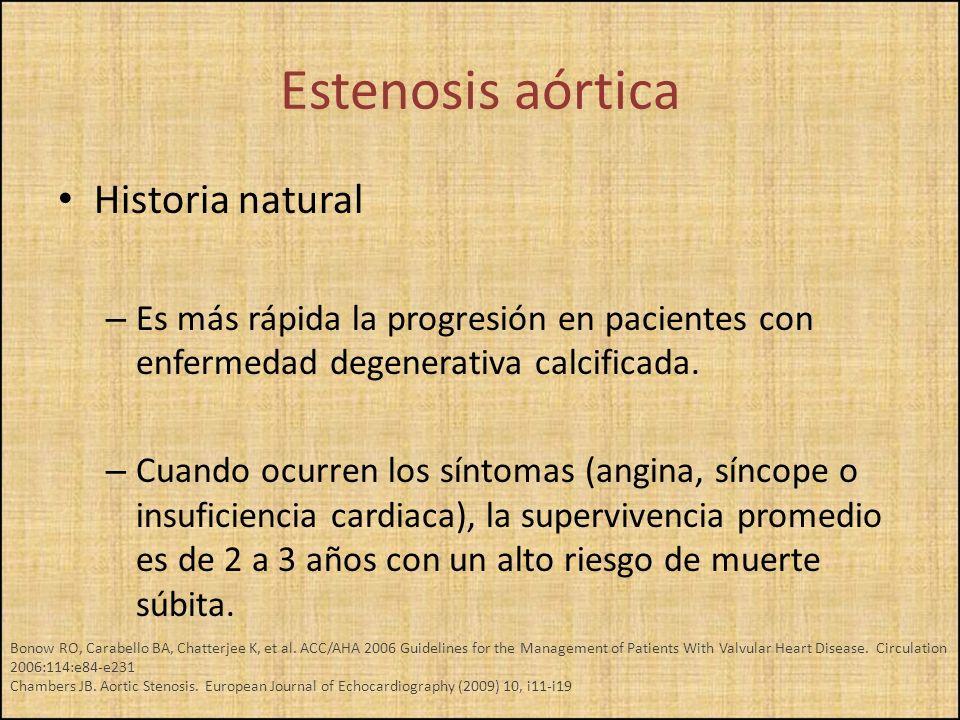 Estenosis aórtica Historia natural