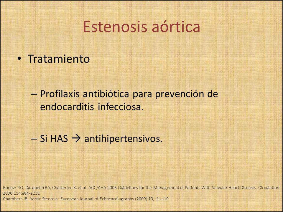 Estenosis aórtica Tratamiento
