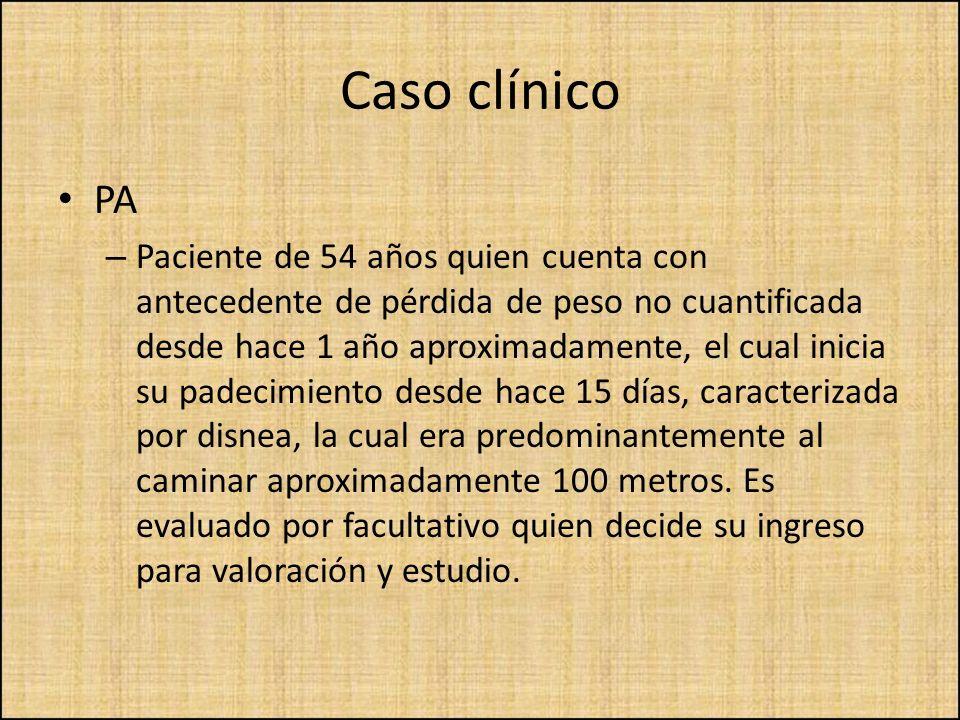 Caso clínico PA.