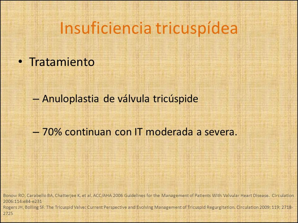 Insuficiencia tricuspídea