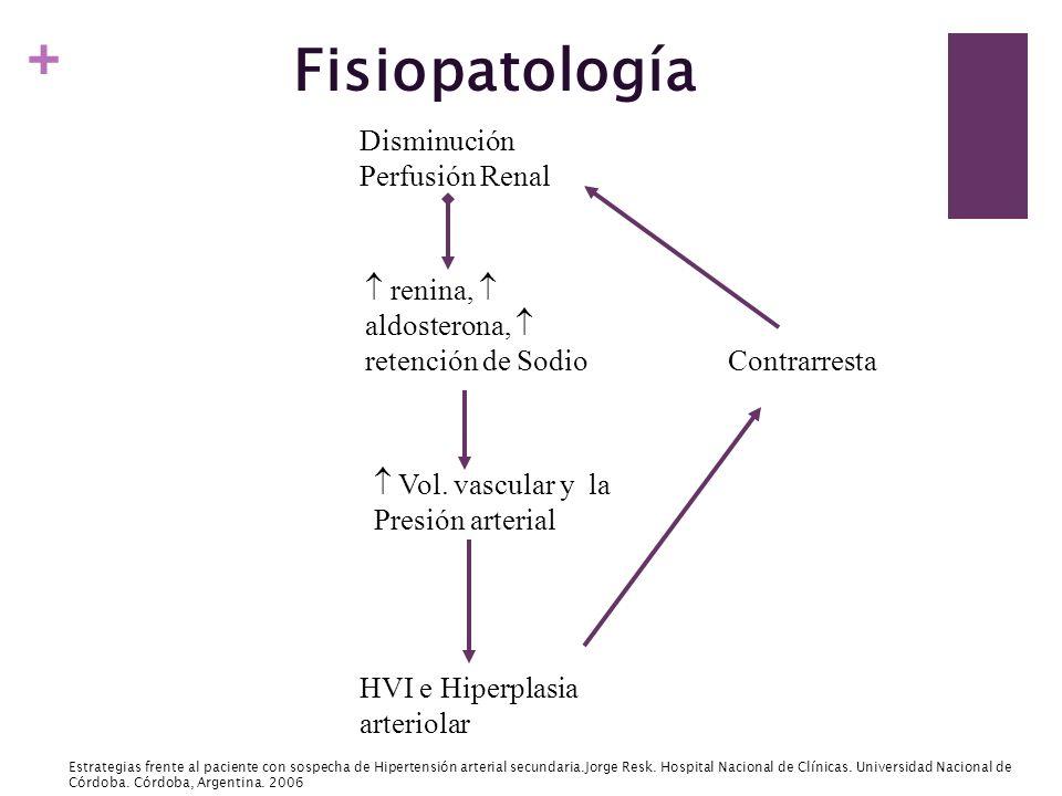 Fisiopatología Disminución Perfusión Renal