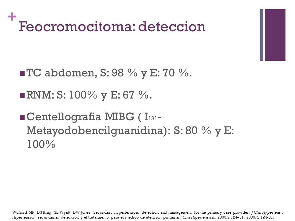 Feocromocitoma: deteccion