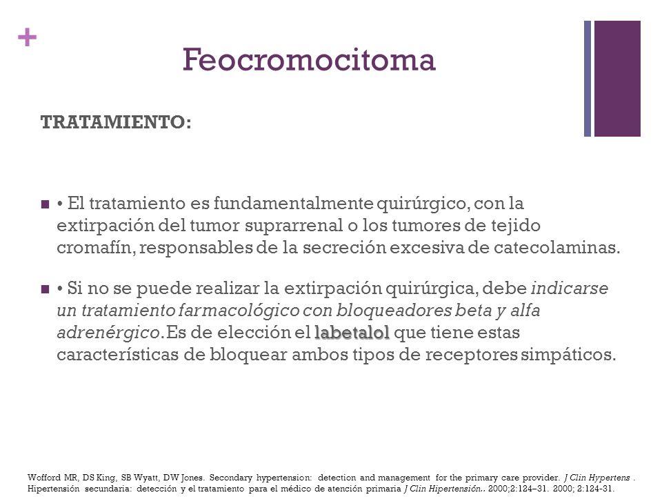 Feocromocitoma TRATAMIENTO: