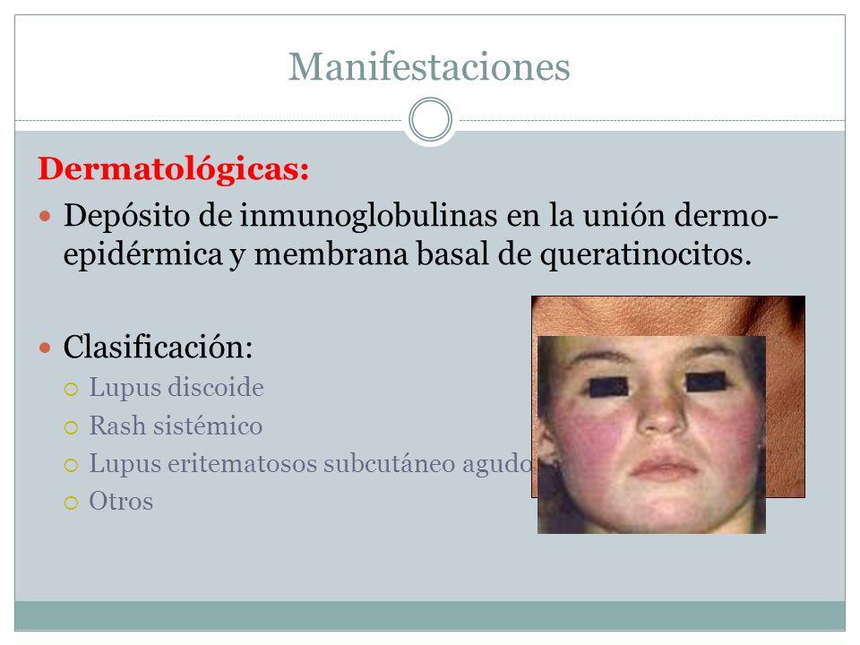 Manifestaciones Dermatológicas: