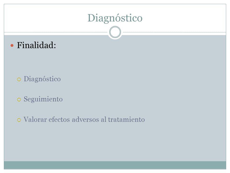 Diagnóstico Finalidad: Diagnóstico Seguimiento
