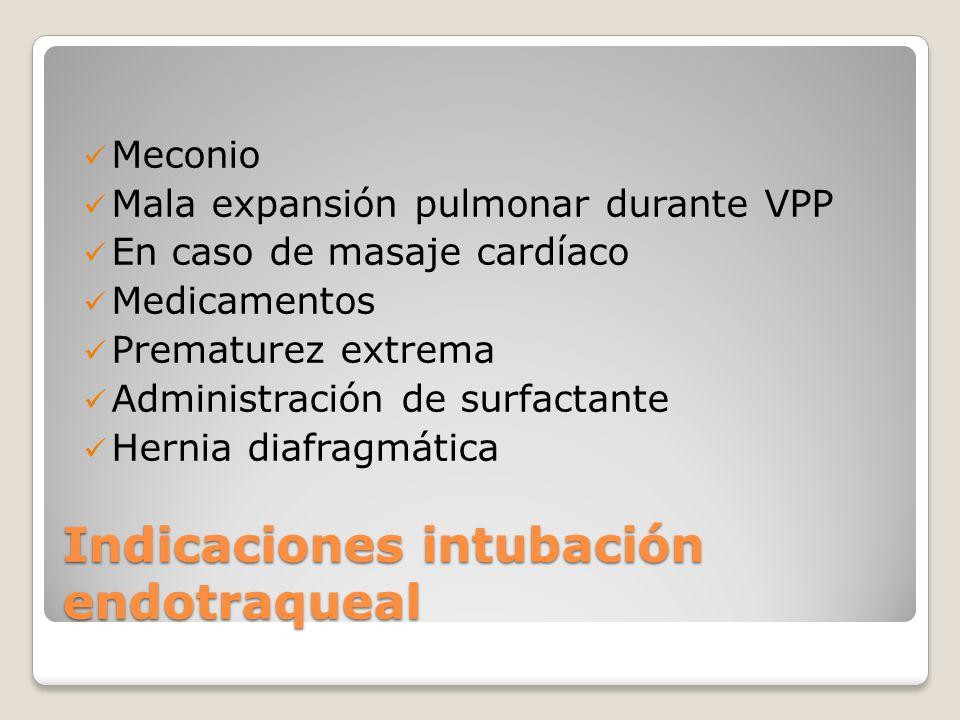 Indicaciones intubación endotraqueal
