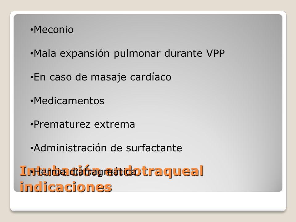 Intubación endotraqueal indicaciones
