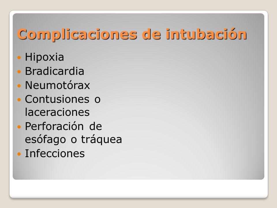 Complicaciones de intubación