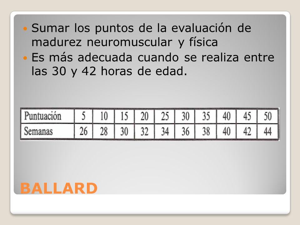Sumar los puntos de la evaluación de madurez neuromuscular y física