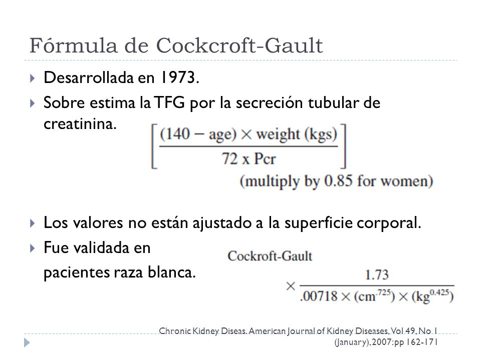 Fórmula de Cockcroft-Gault