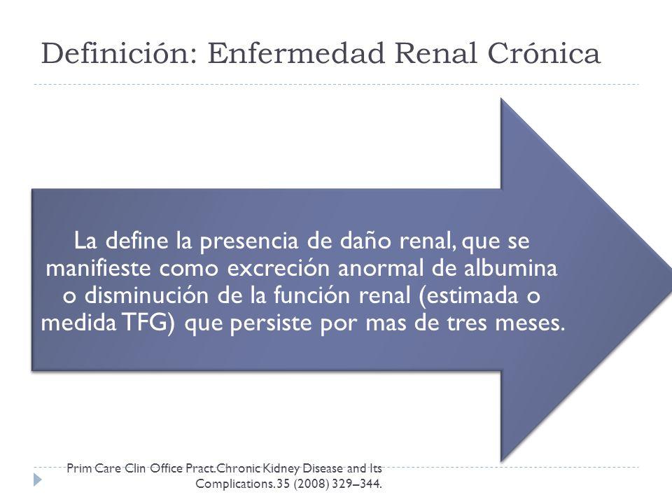 Definición: Enfermedad Renal Crónica