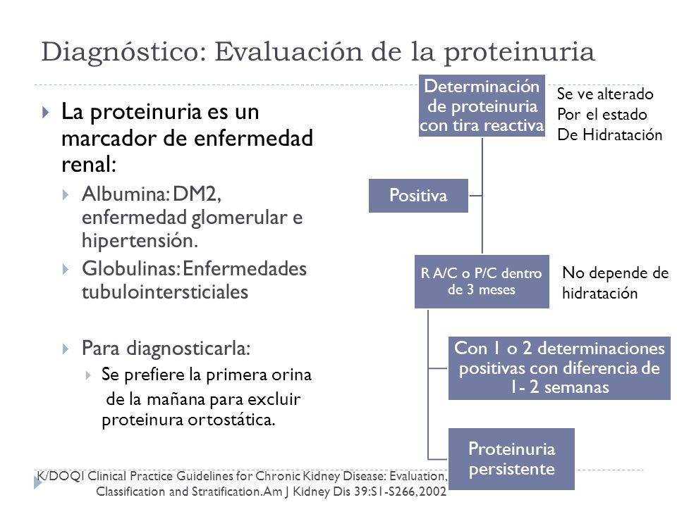 Diagnóstico: Evaluación de la proteinuria