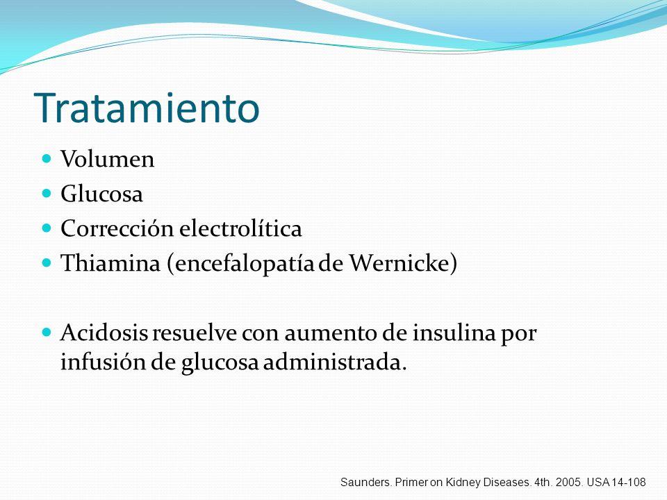 Tratamiento Volumen Glucosa Corrección electrolítica