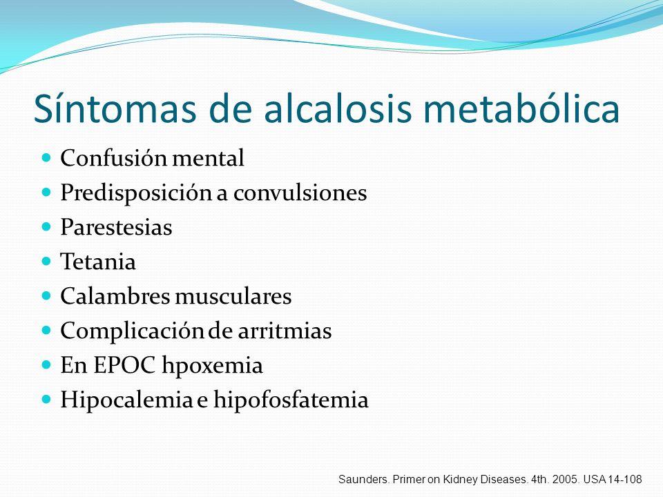 Síntomas de alcalosis metabólica