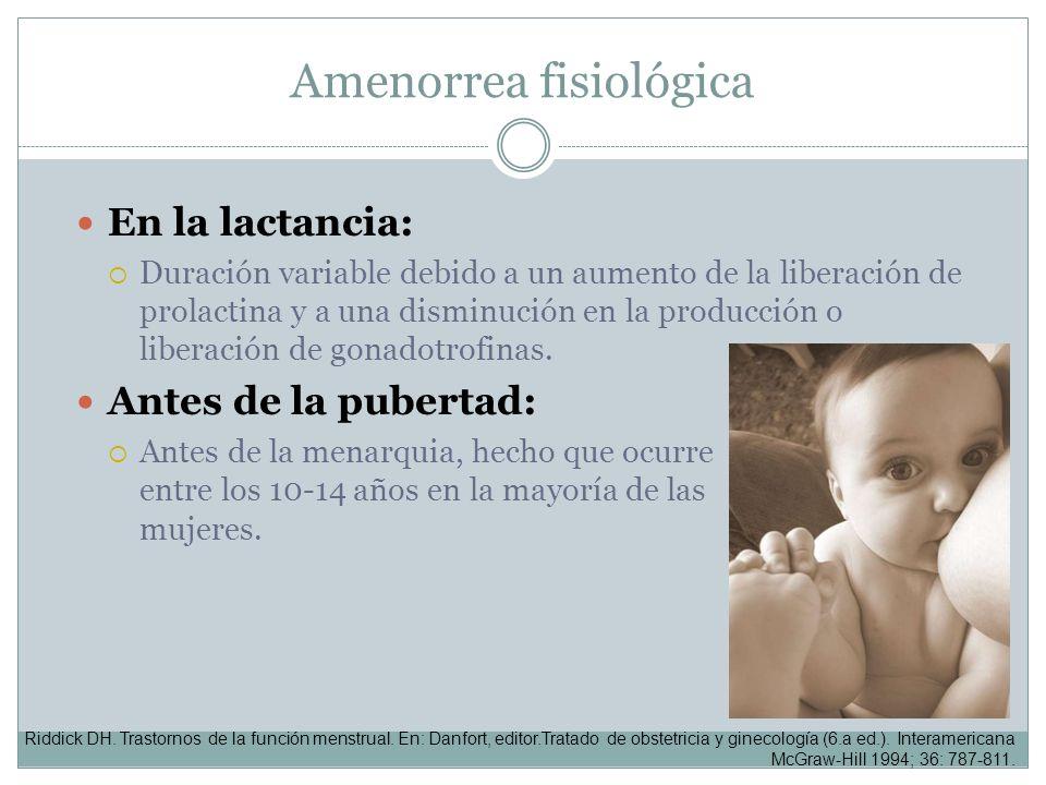 Amenorrea fisiológica