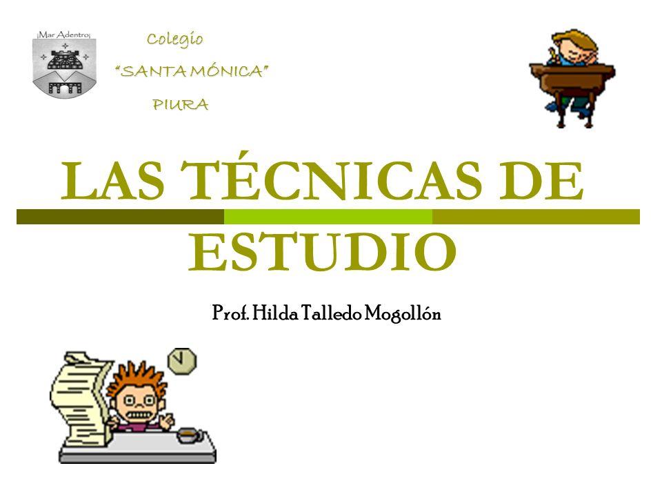 LAS TÉCNICAS DE ESTUDIO