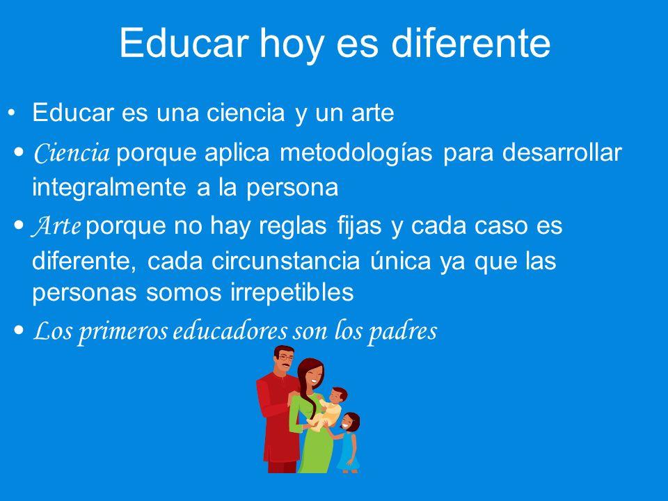 Educar hoy es diferente