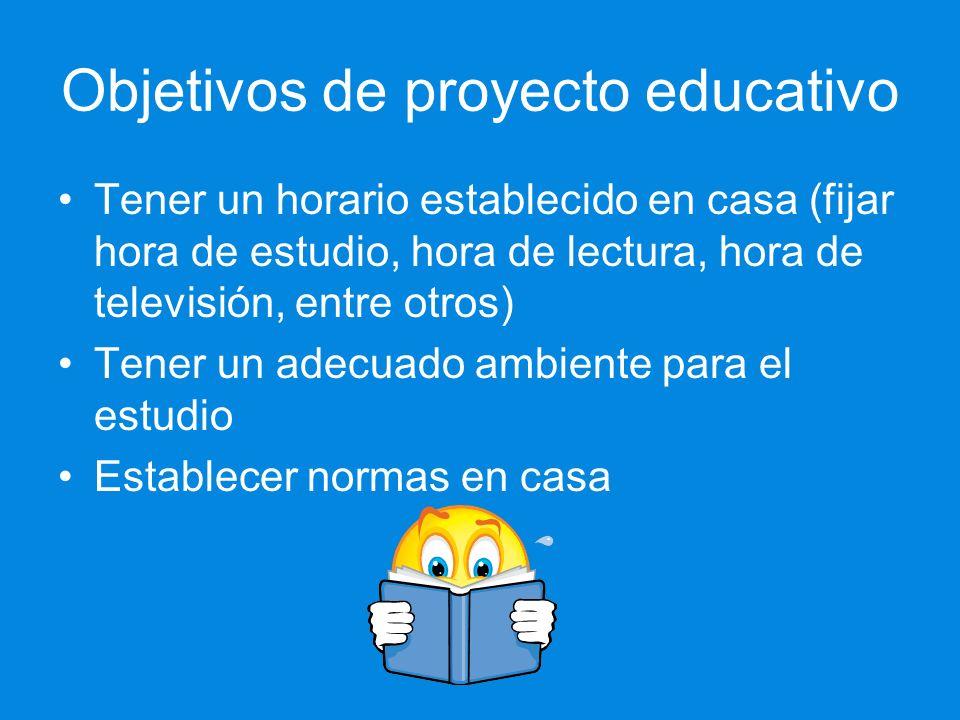 Objetivos de proyecto educativo
