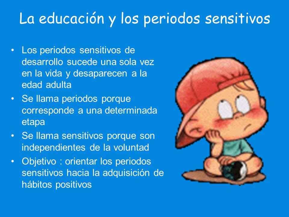 La educación y los periodos sensitivos