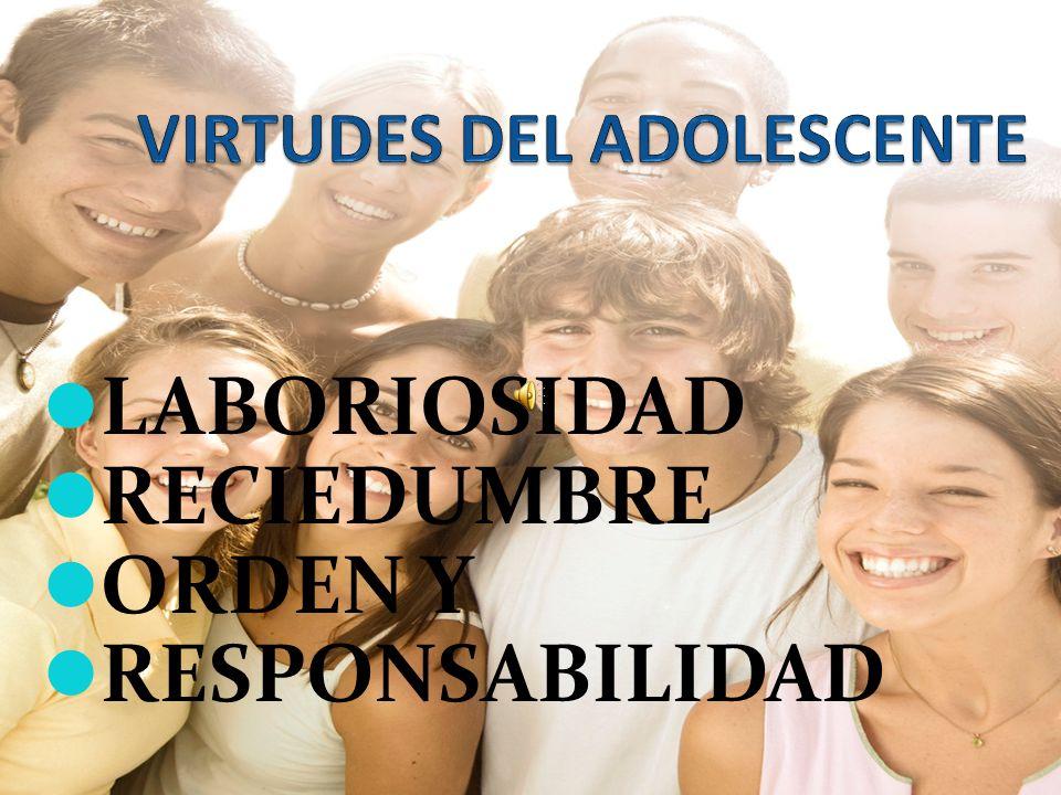 VIRTUDES DEL ADOLESCENTE