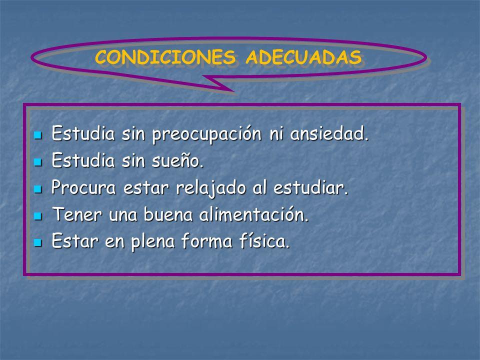 CONDICIONES ADECUADAS