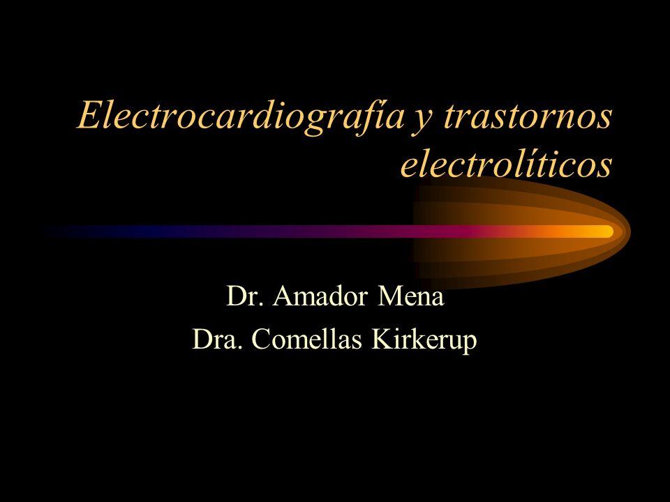 Electrocardiografía y trastornos electrolíticos