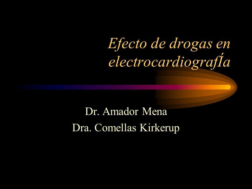 Efecto de drogas en electrocardiografÍa