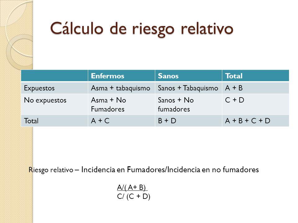 Cálculo de riesgo relativo